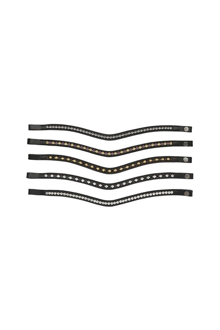 Swarovski Browband 1 Row Curved